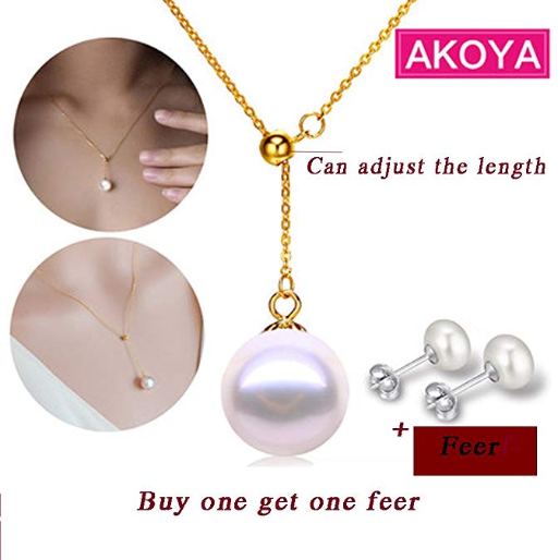 If You Are Looking For A Necklace As Christmas Gift Your Mother Then Consider 18k Yellow Gold 7 8mm White Anese R Akoya Pearl High Er
