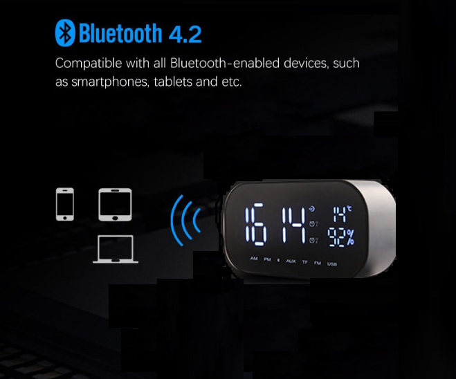 Compatability of Digital Alarm CLock Subwoofer Speaker 2020