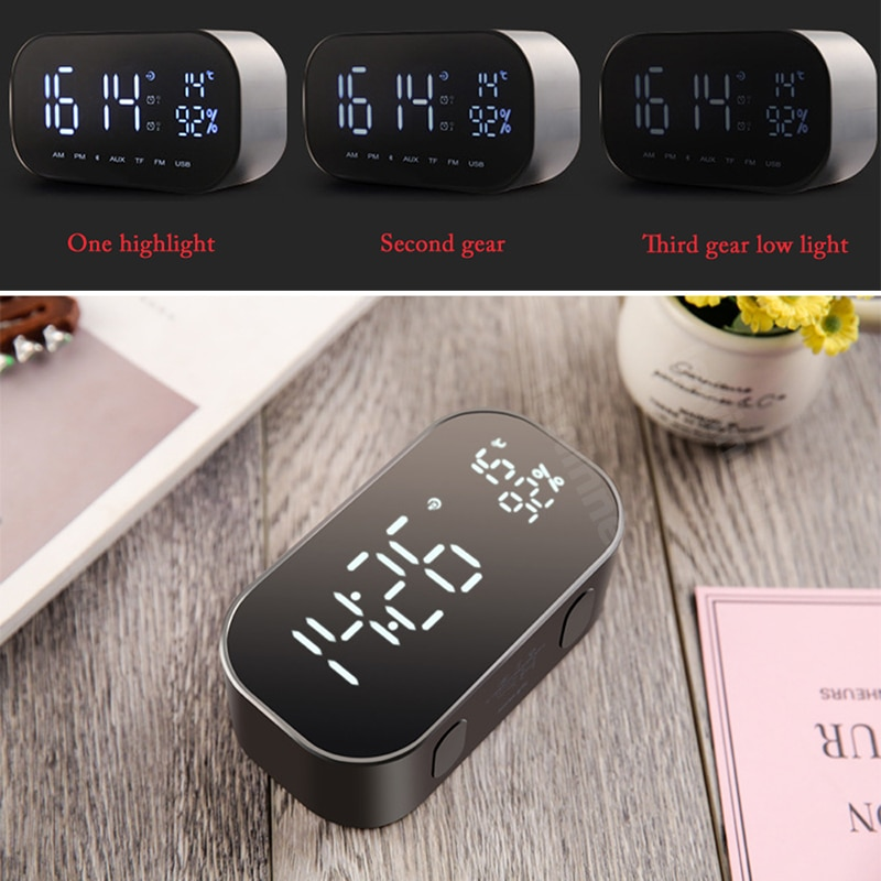 Best Wireless Digital Alarm Clock Bluetooth Speaker 2019