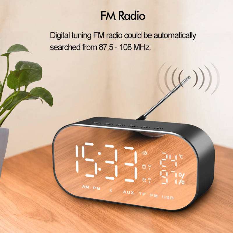 LED Digital Alarm Clock with FM Radio 2019