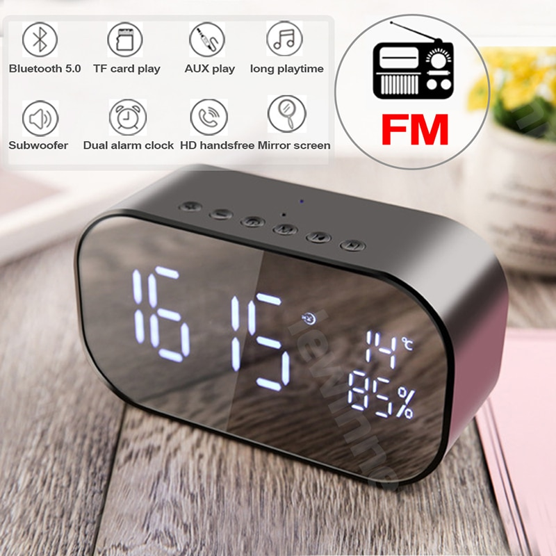 Portable Wireless Bluetooth Speaker Alarm CLock Review